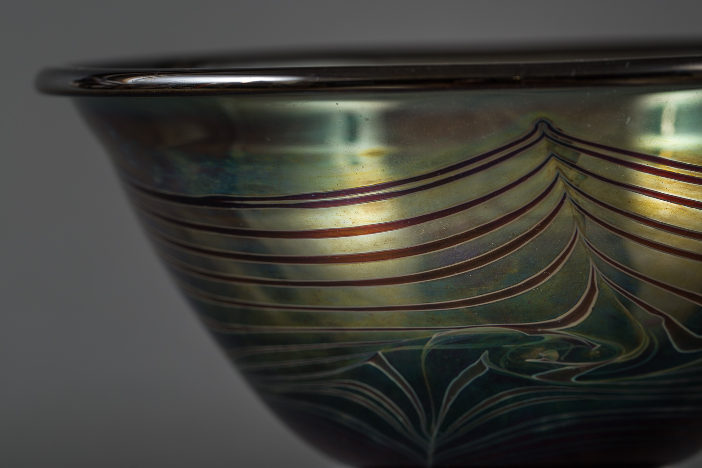glass bowl, studio art glass, art glass