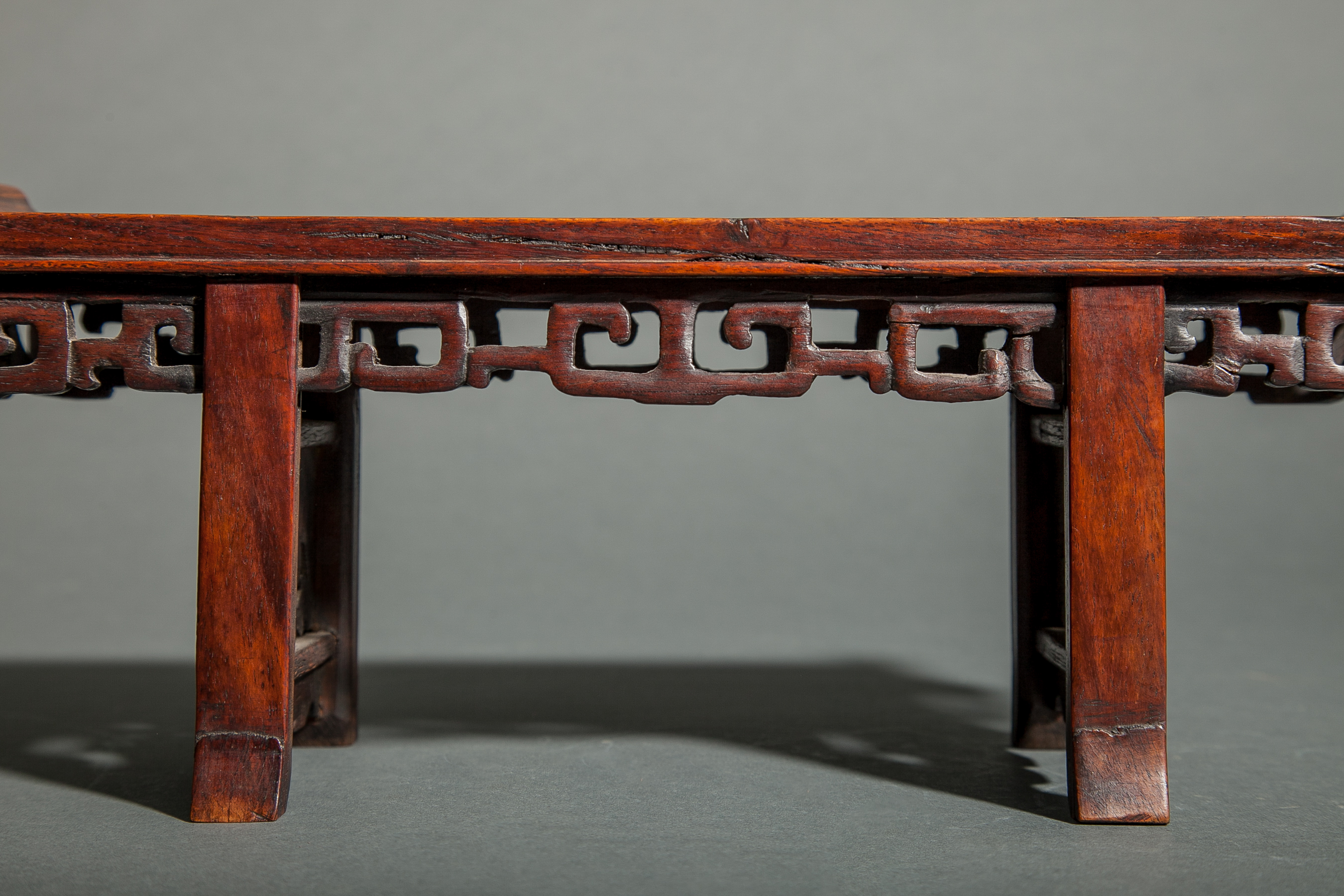 Chinese Miniature Alter Table with Inset Marble Top
