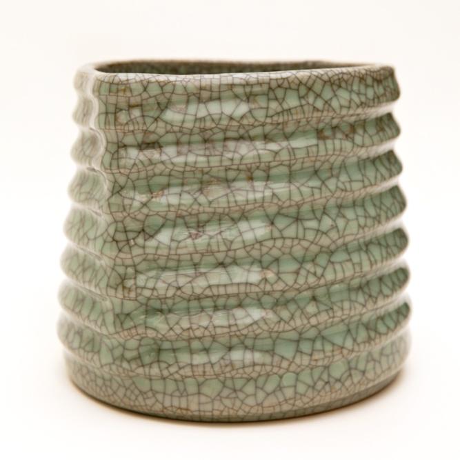 Crackled Celadon Mizusashi (Water Container)