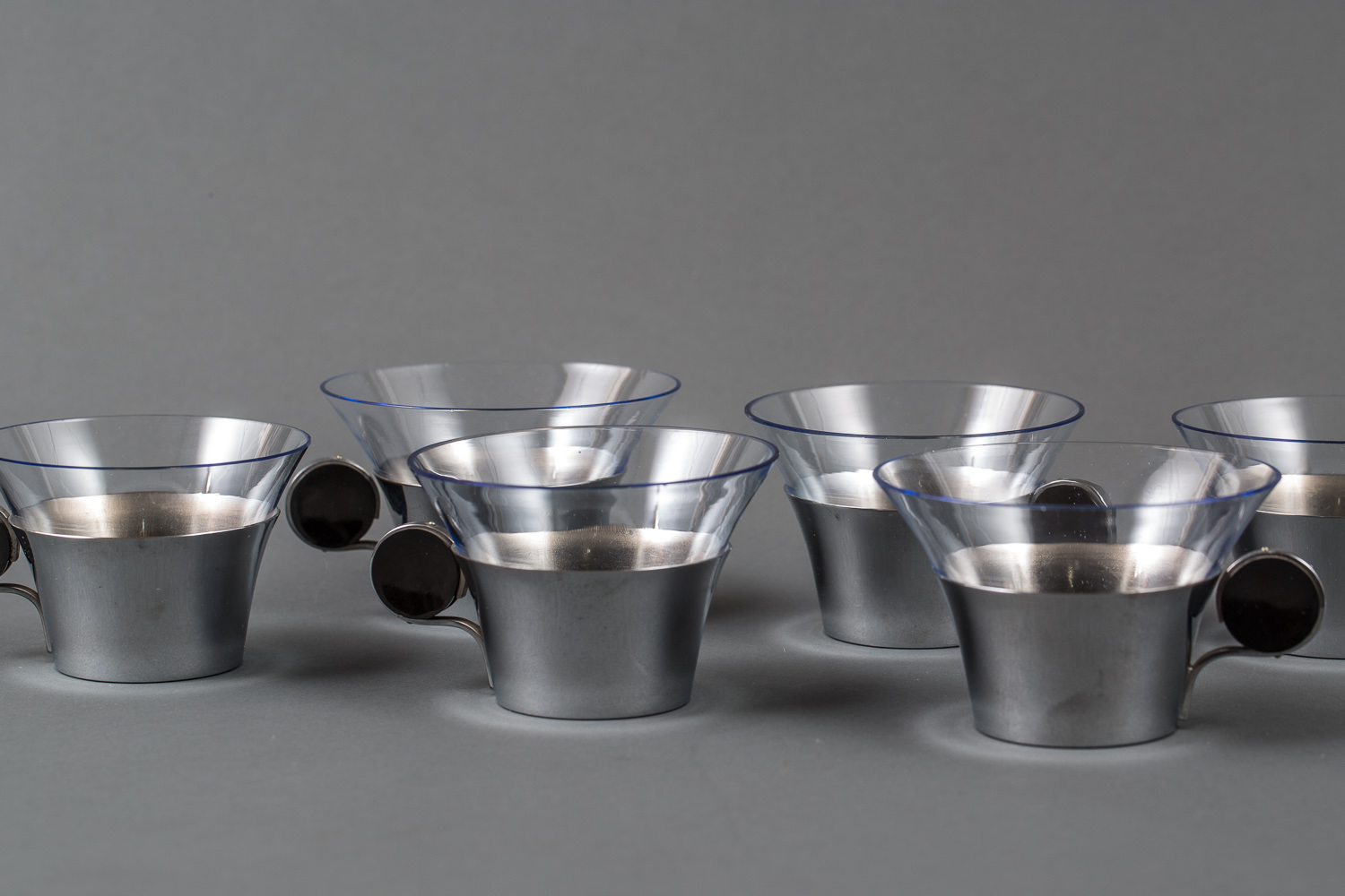 Set of Six Deco Coffee Cups