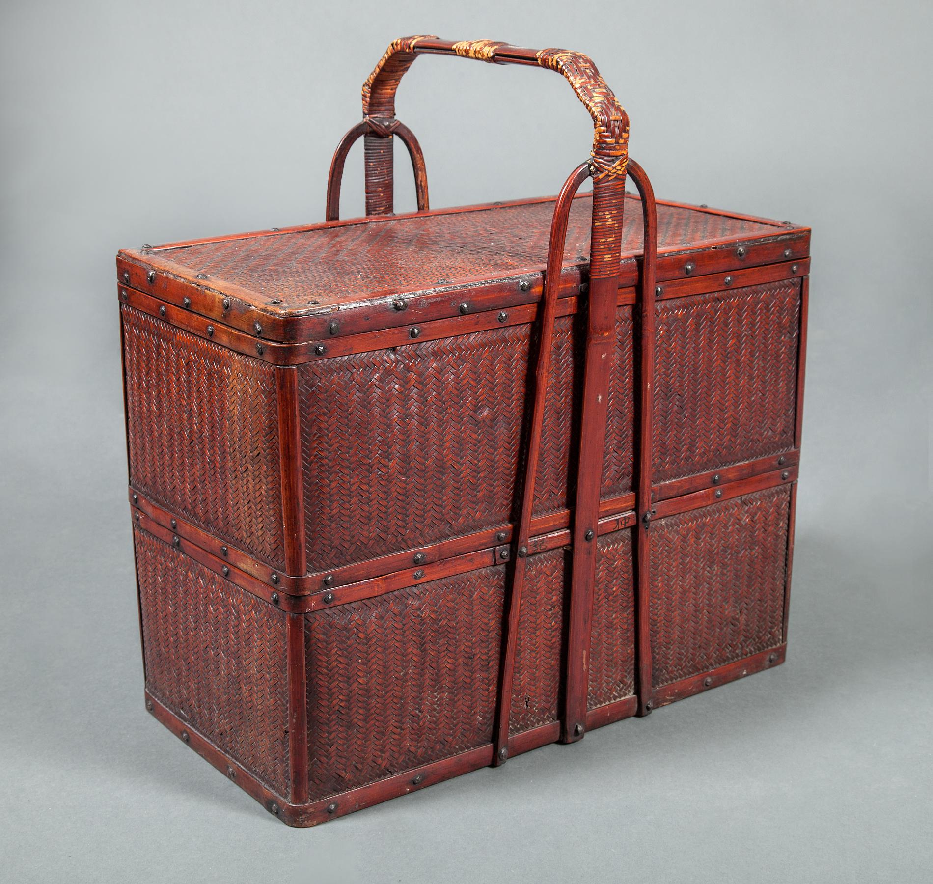 Dual Chamber Bento (Food Carrying Box) Basket