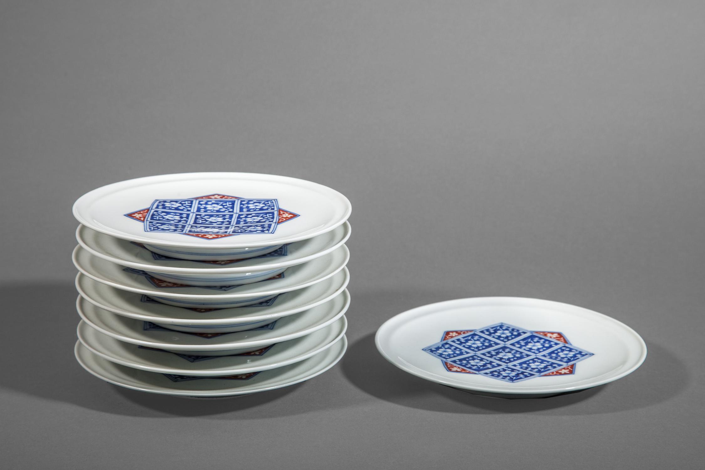 Eight Kakieman Plates