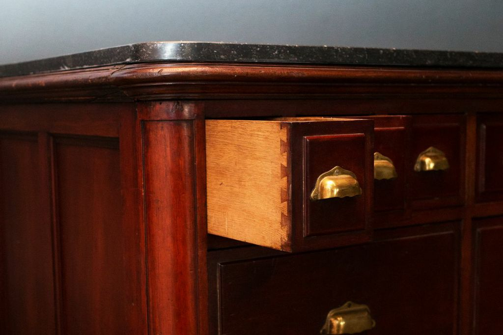 French Counter with Marble Top