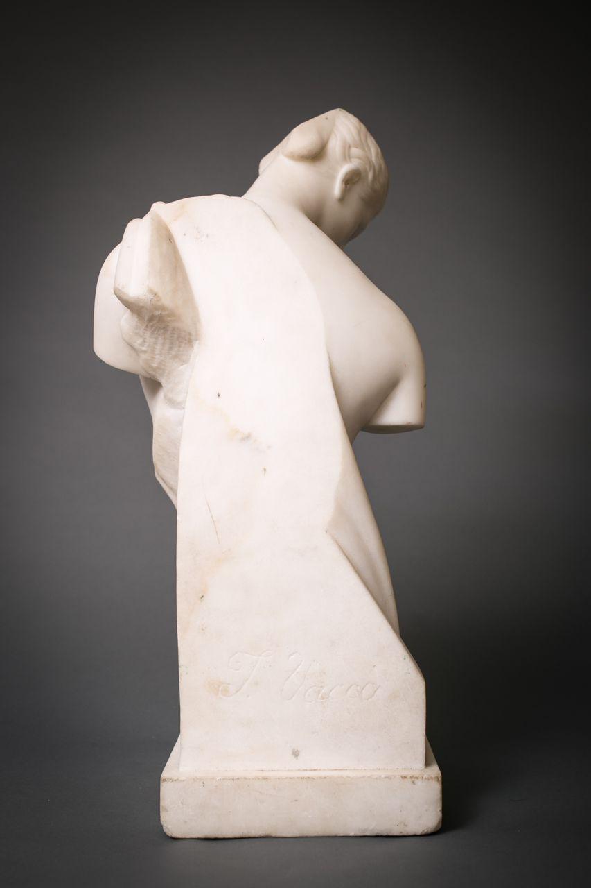 Grand Tour Cararra Marble Sculpture of Psyche of Capua