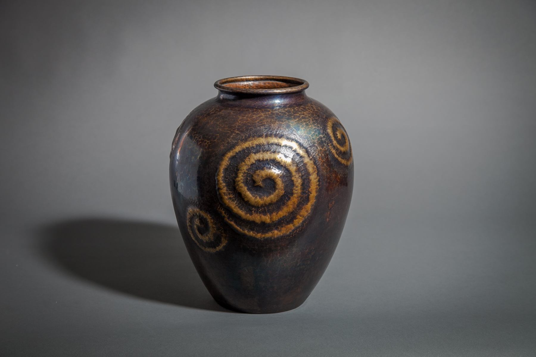Hammered and Patinaed Copper Vase