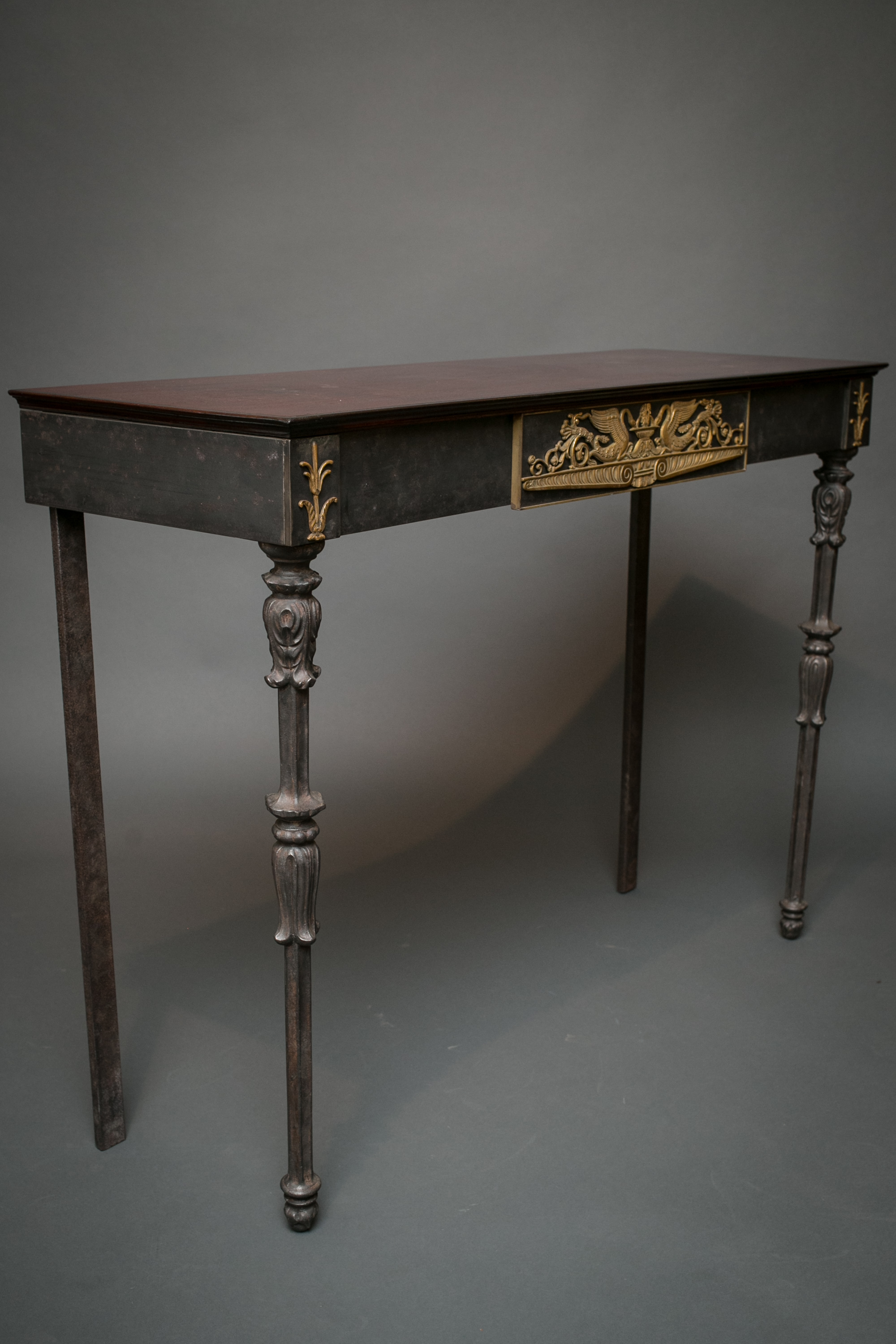 Iron Console Table with 19th Century Parts