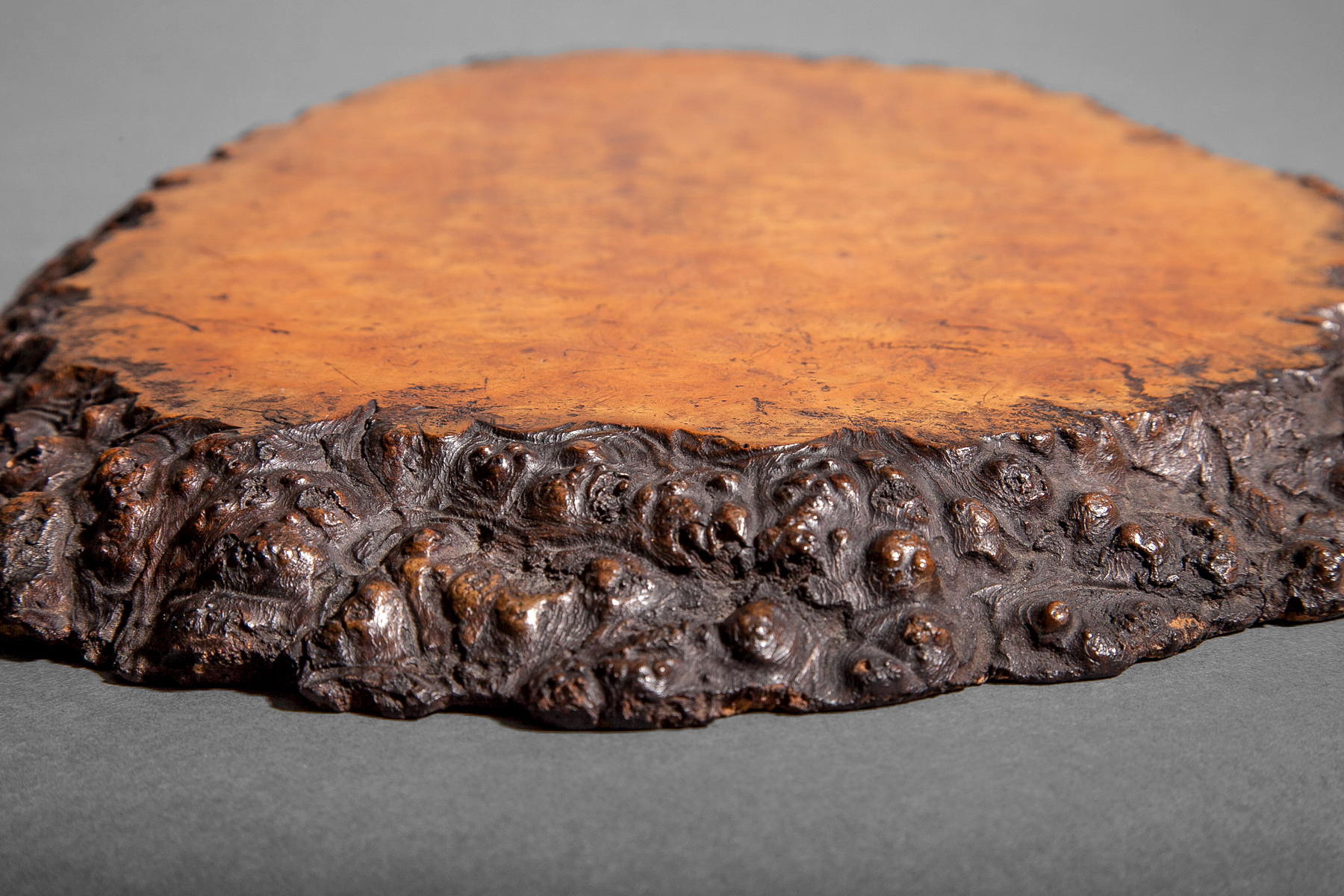 Japanese Burl Wood Tray