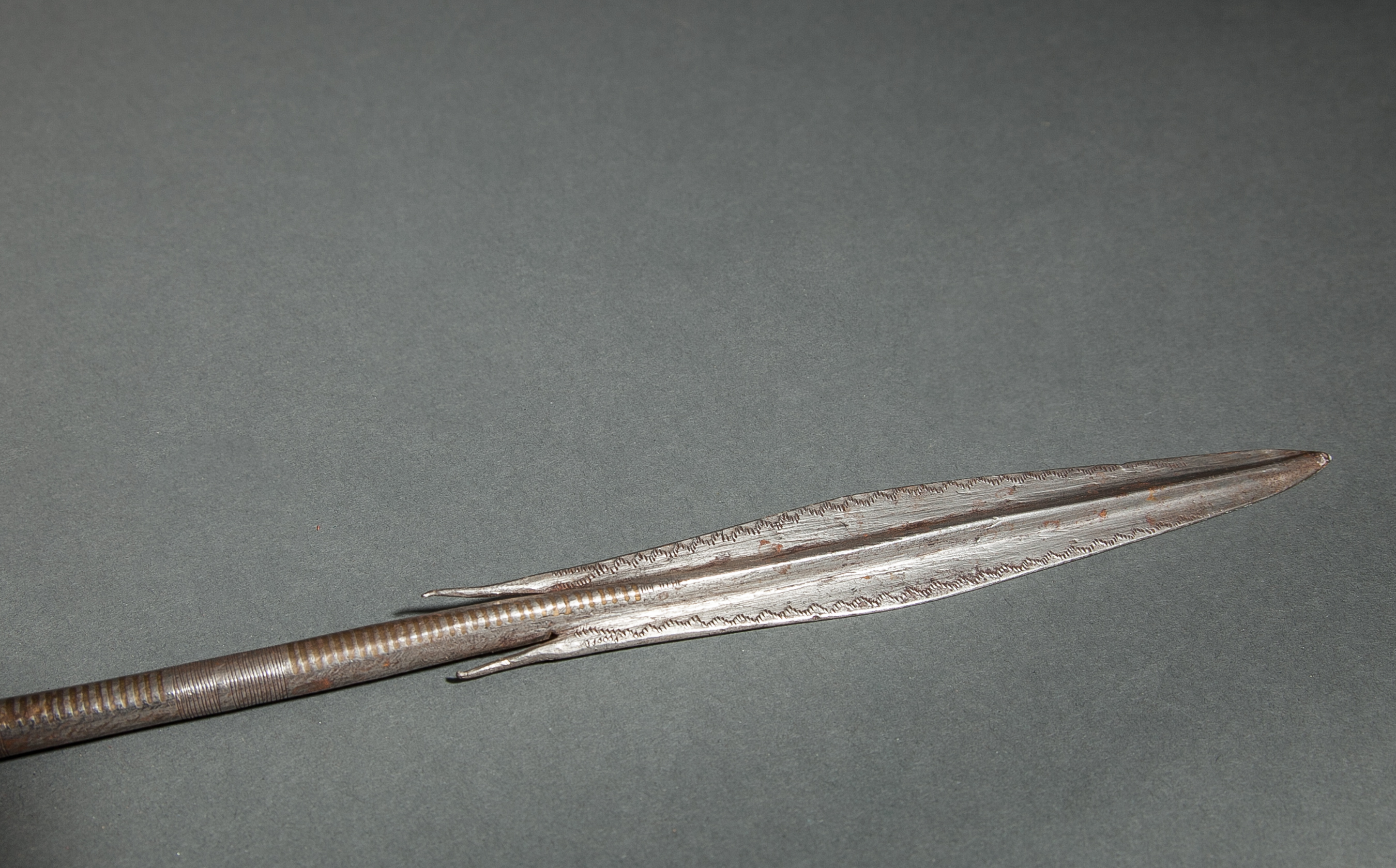 African Masai Spear with Leather Handle