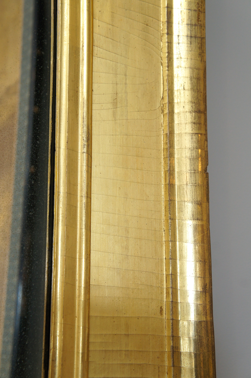American Early 19th Century Gilt Wood Sully Mirror