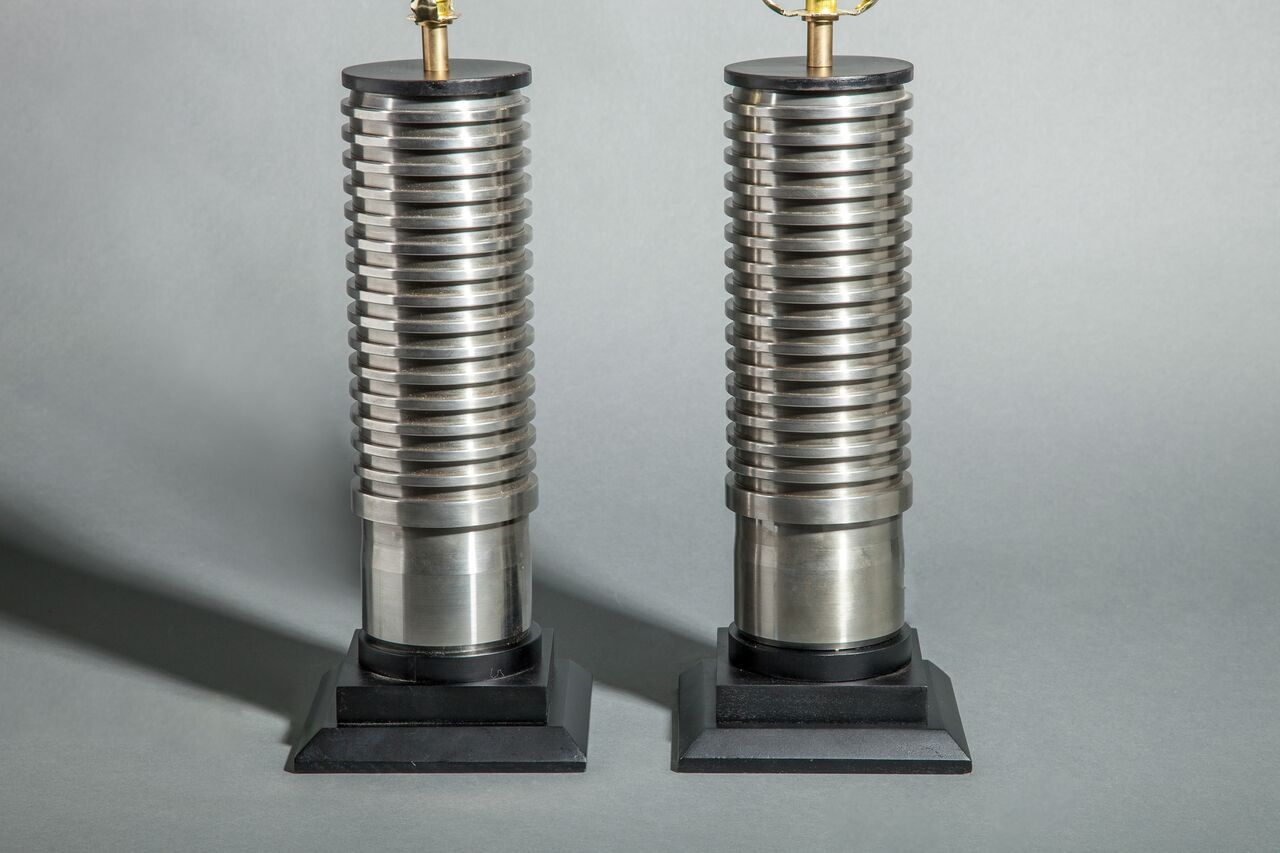 American Stainless Steel Rollers Made into Lamp Bodies