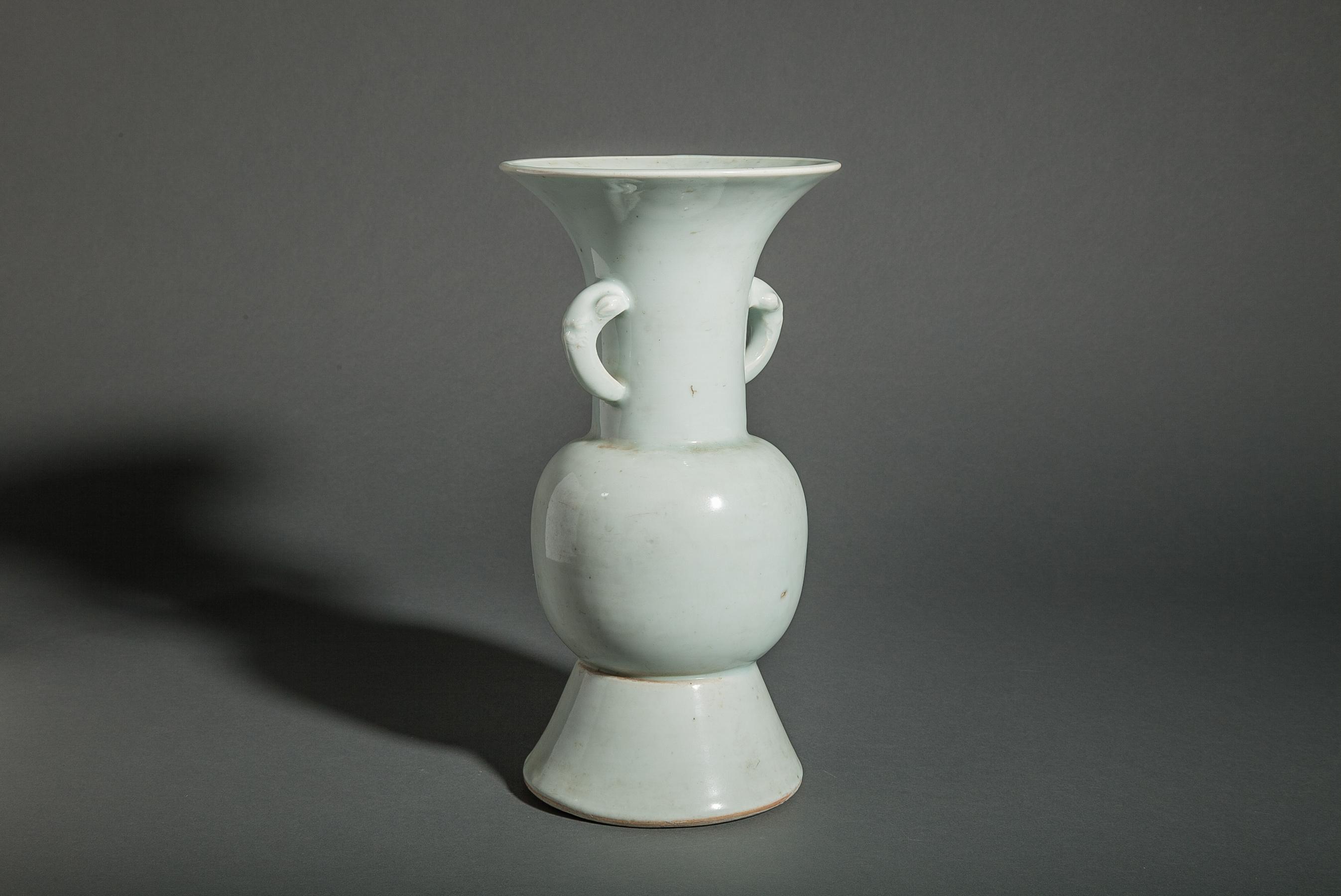 Antique Chinese Pale Celadon Ceramic Vase