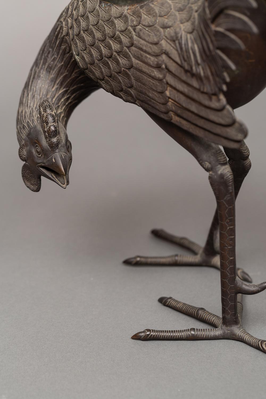 Bronze Koro (Incense Burner) of a Rooster