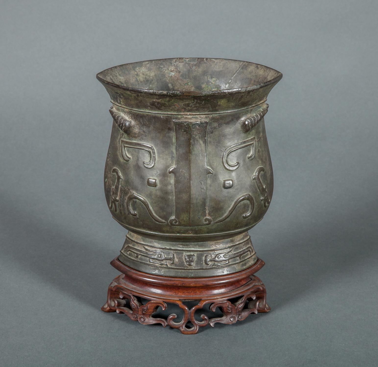 Chinese Archaic Design Bronze Vase