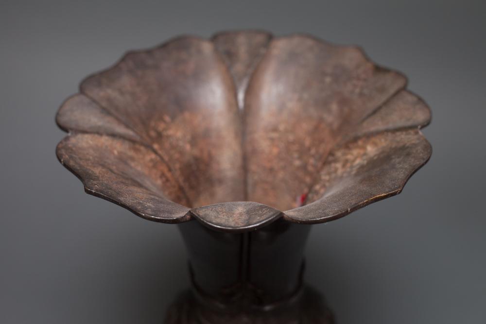 Chinese Bronze Flower Vase