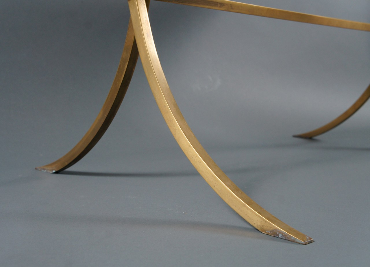 Jansen Style French Brass and Glass Coffee Table