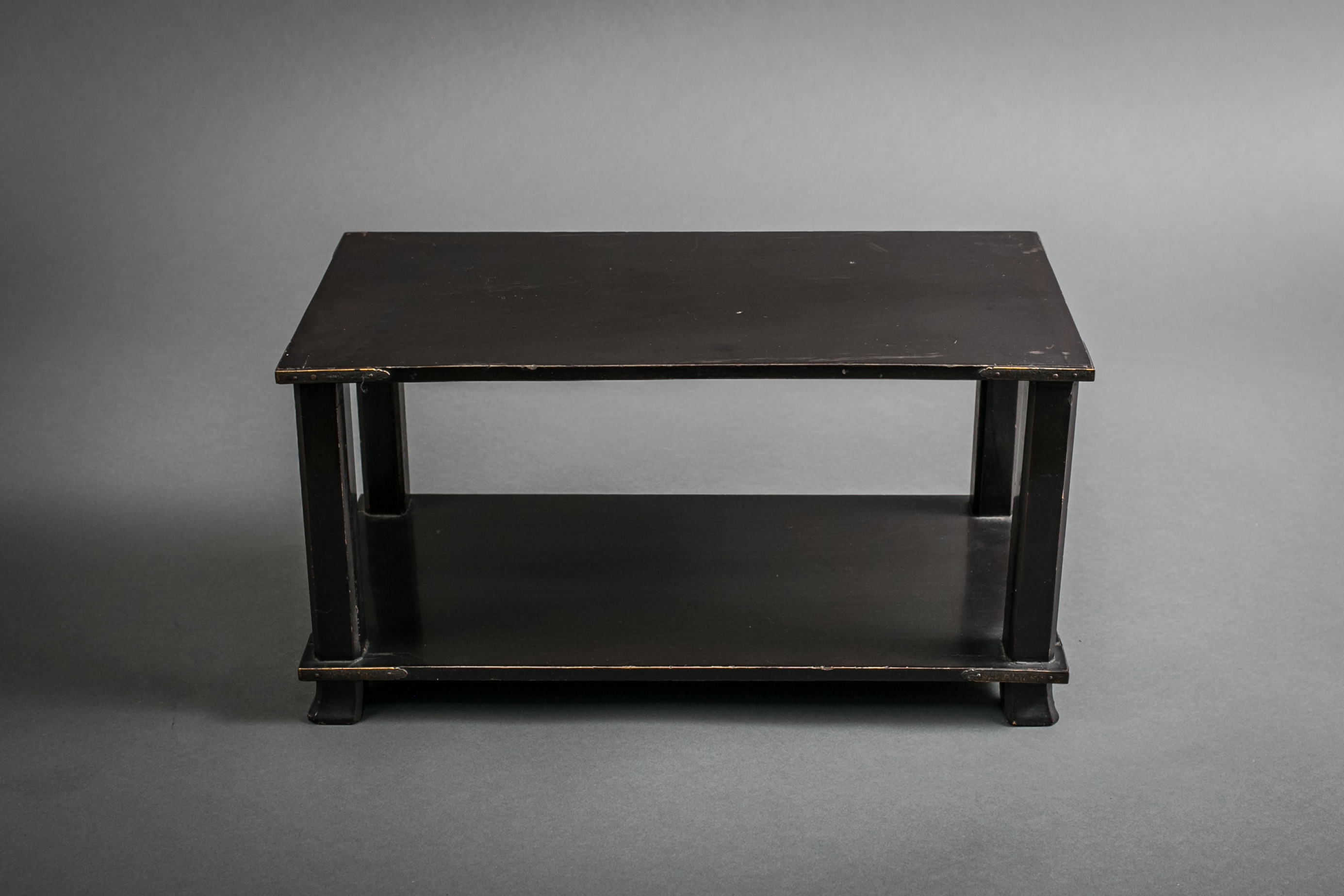 Japanese 18th Century Black Lacquer Buddhist Offering Stand