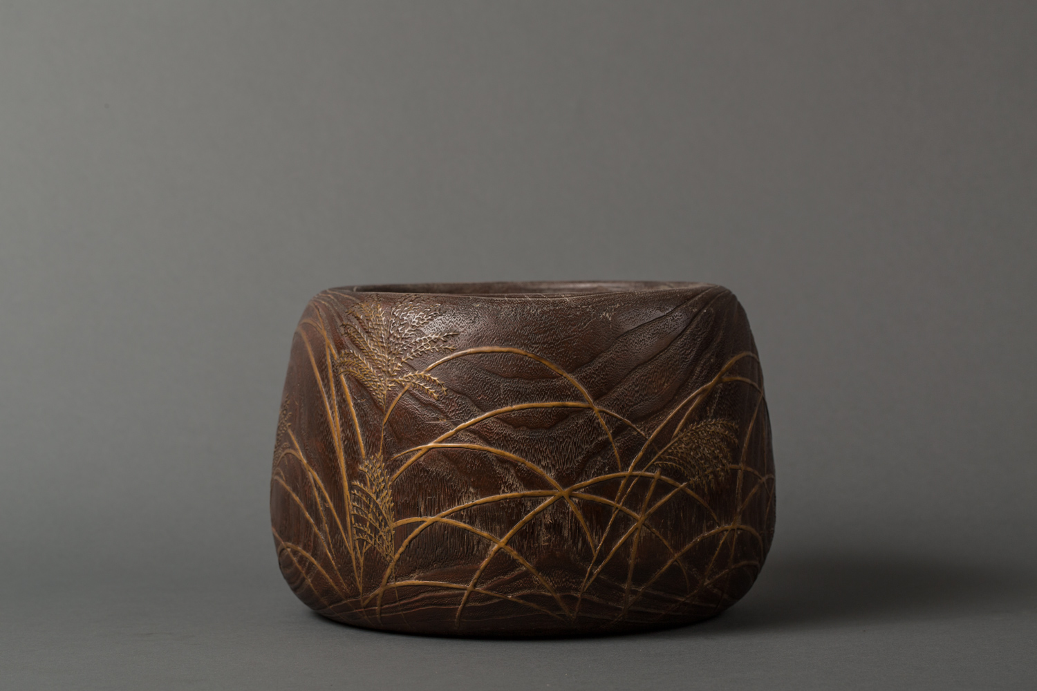 Japanese 18th Century Hand Warmer, Hibachi, With Copper Cover