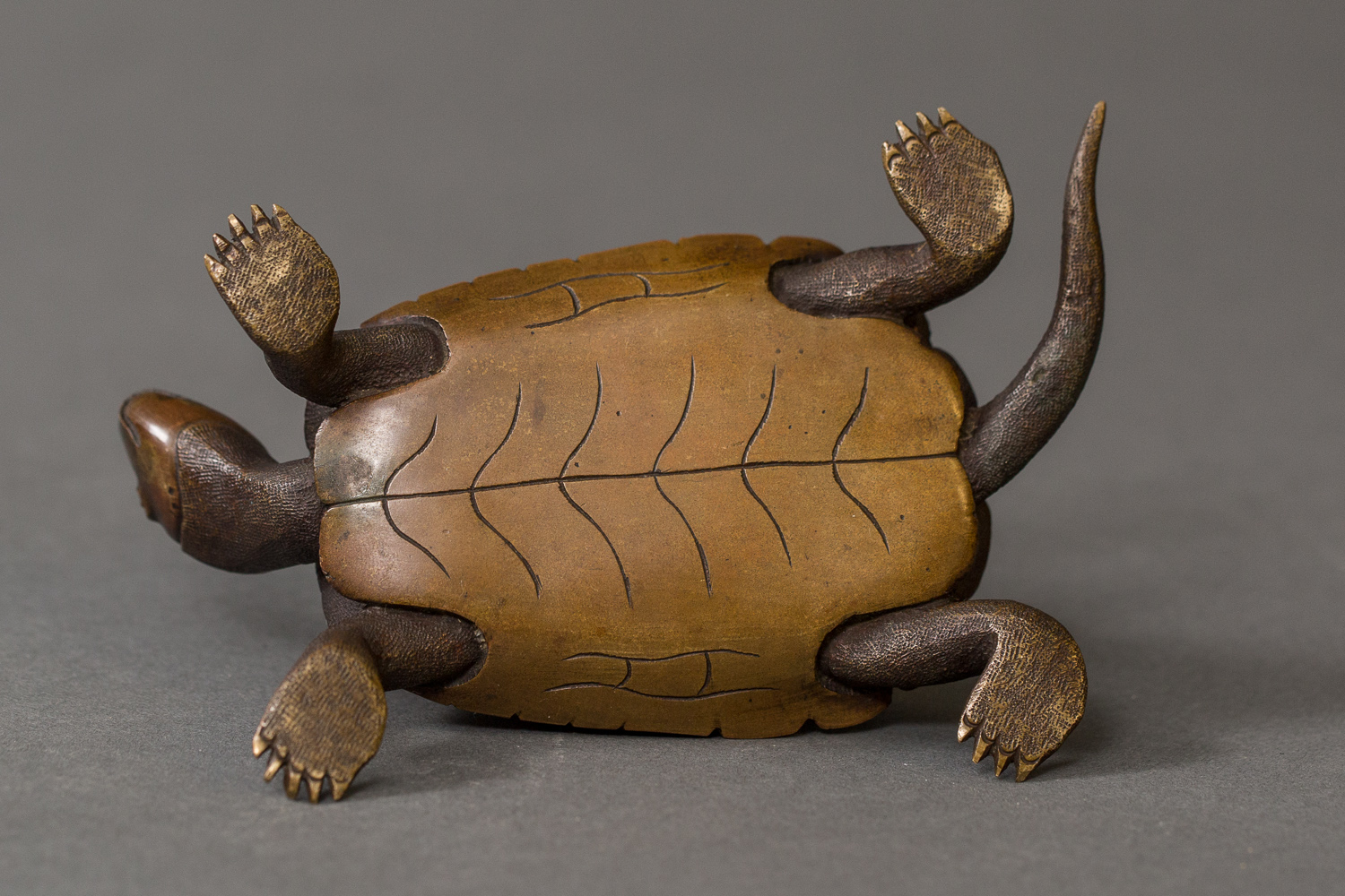 Japanese Antique Bronze Sculpture of Turtles