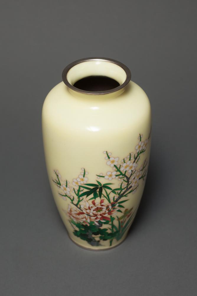 Japanese Cloisonné Vase with Floral Motif