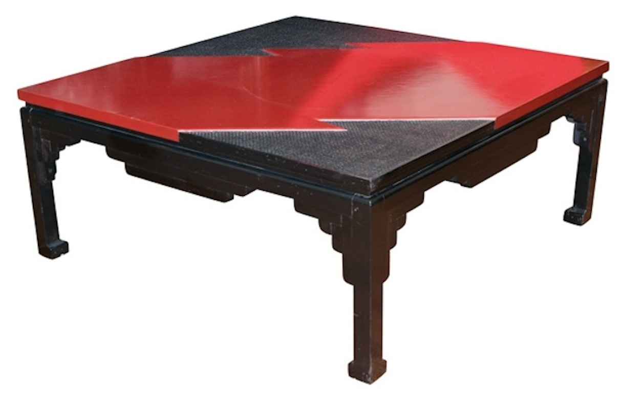 Japanese Lacquer Cocktail Table