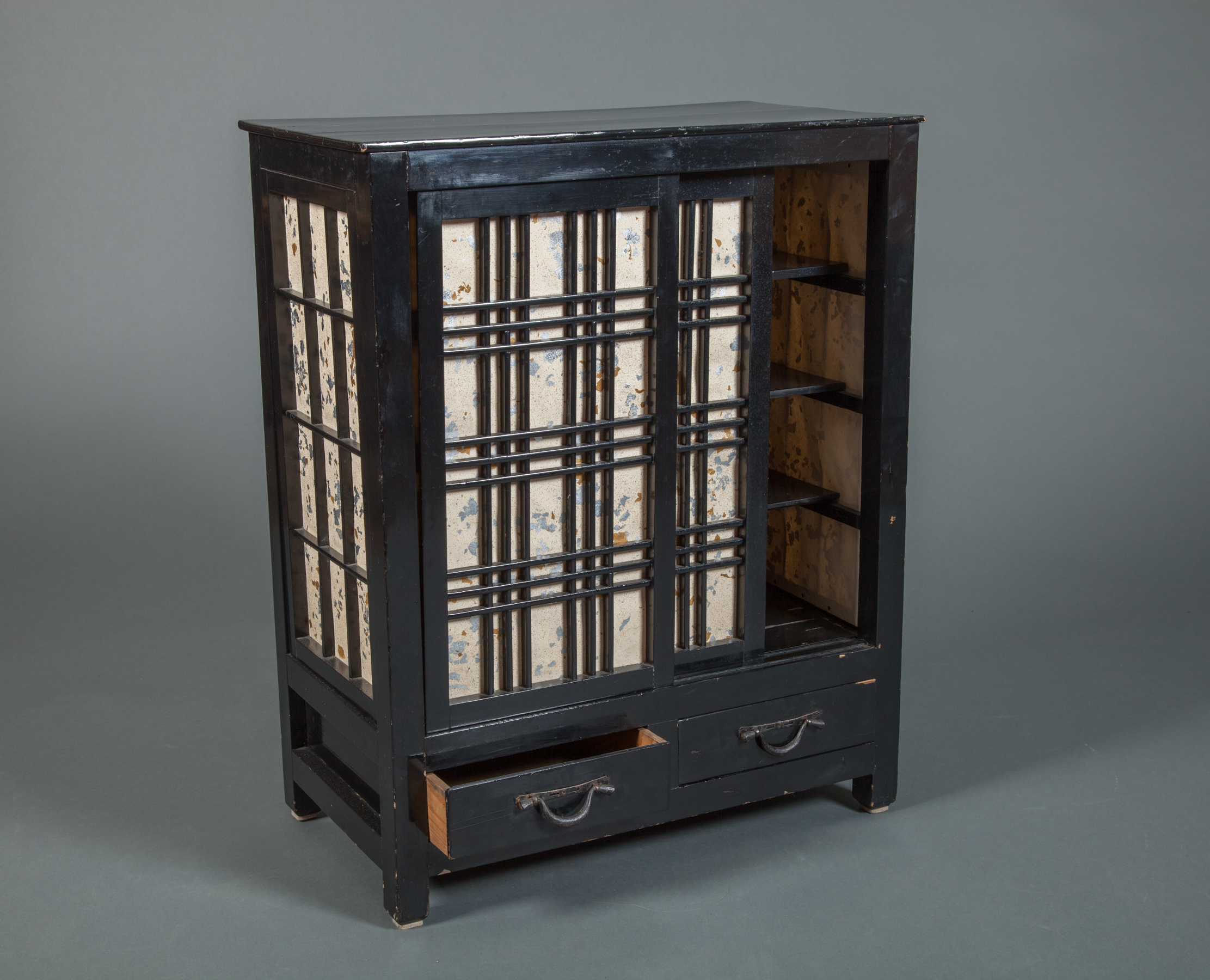 Small Japanese Cabinet with Shoji Sliding Doors