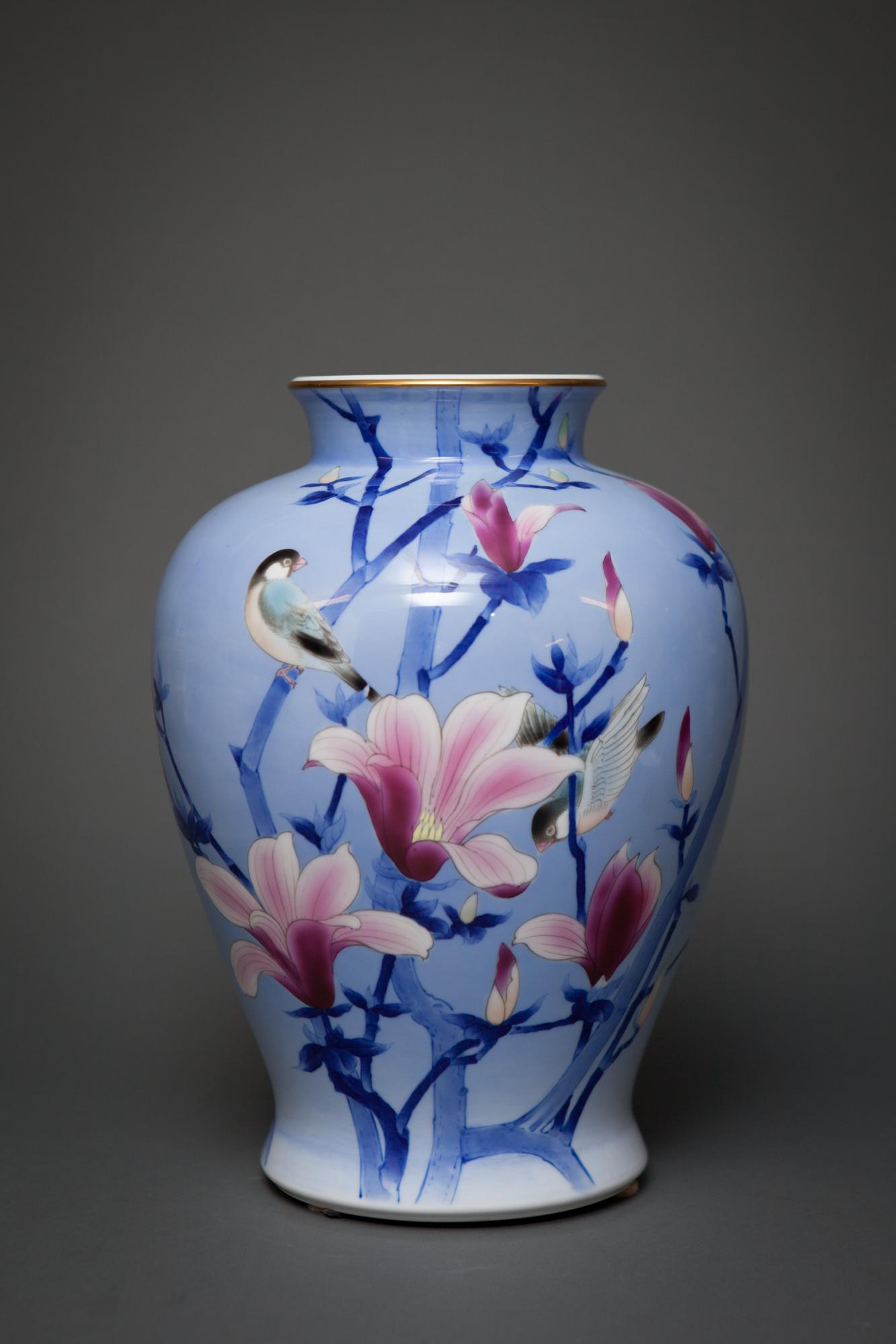 Japanese Studio Art Porcelain Vase