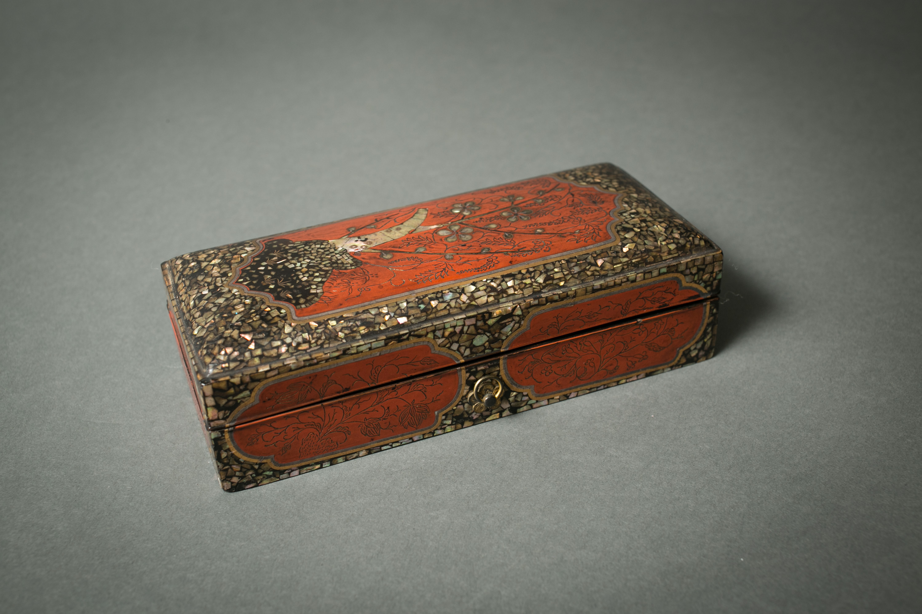 Lacquer Writing Box with MOP Design