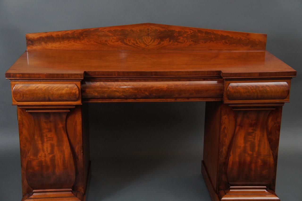 Mahogany William IV English Double Pedestal Sideboard