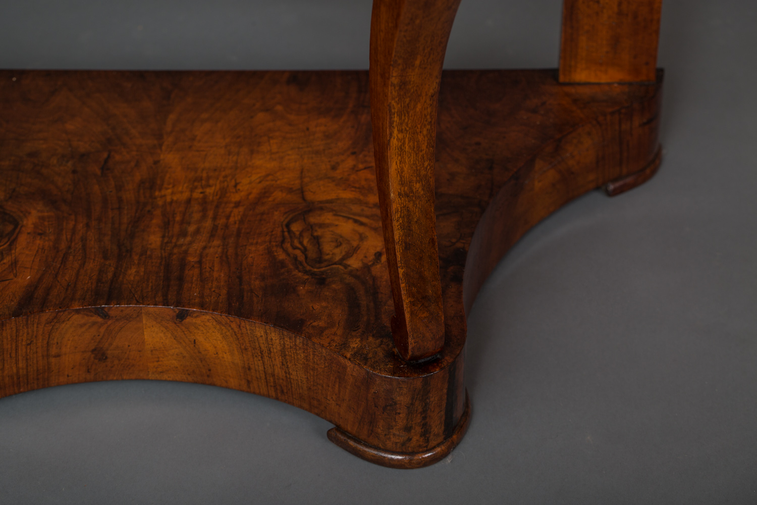Marble Top Demi-Lune Table