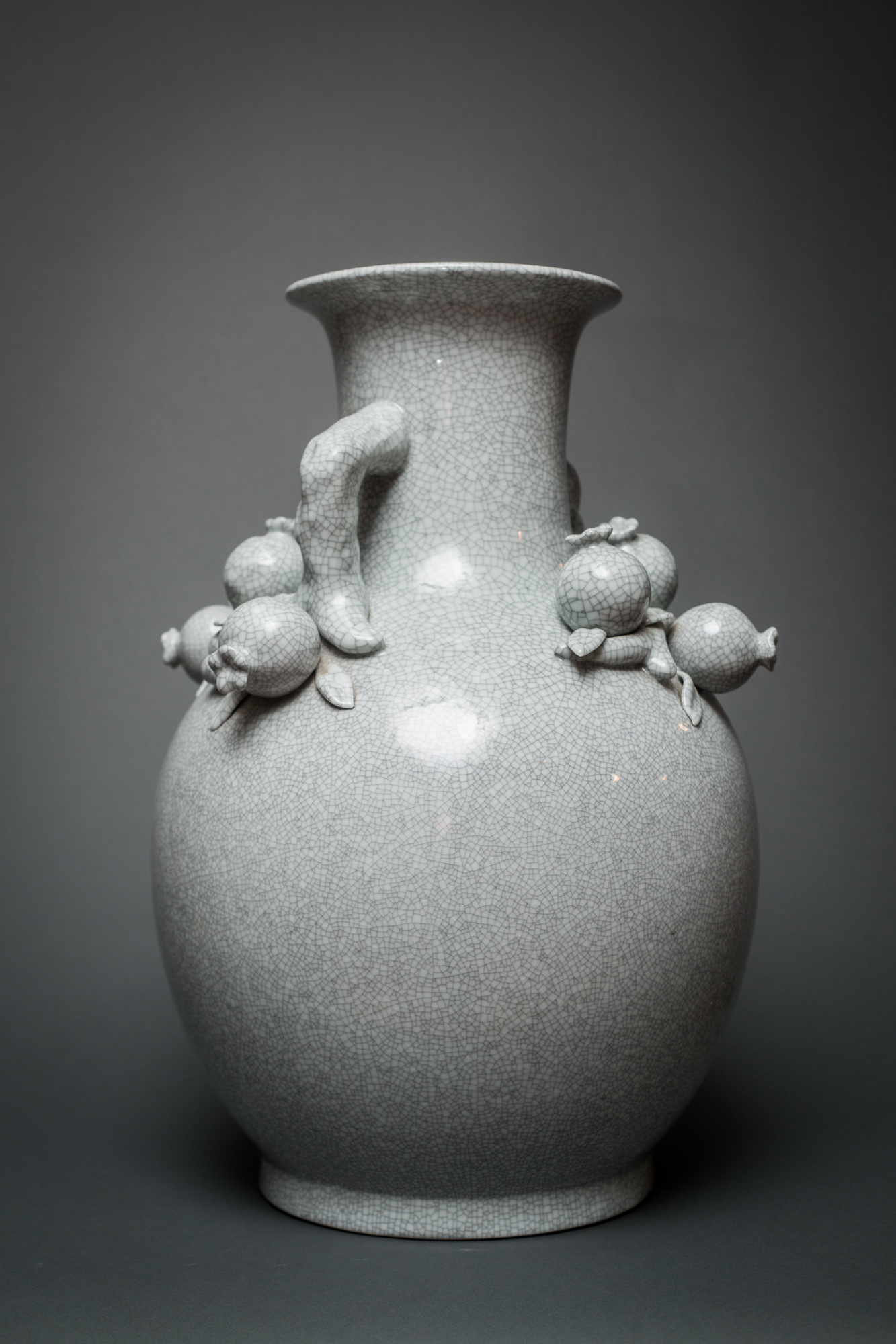 Pair of Chinese Pomegranate Vases