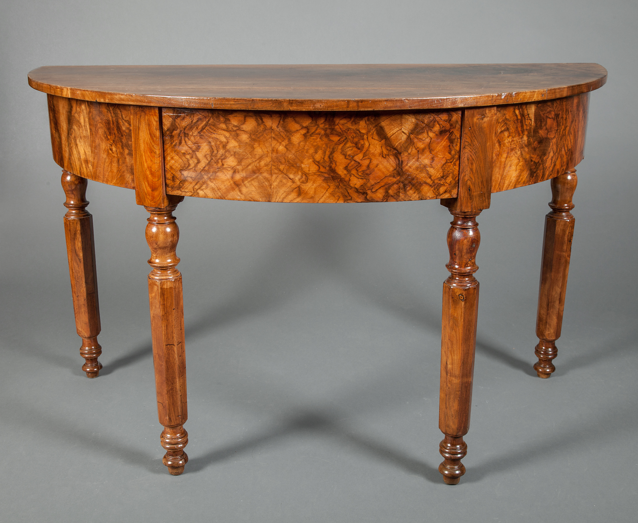 Pair of French Demi-Lune Tables
