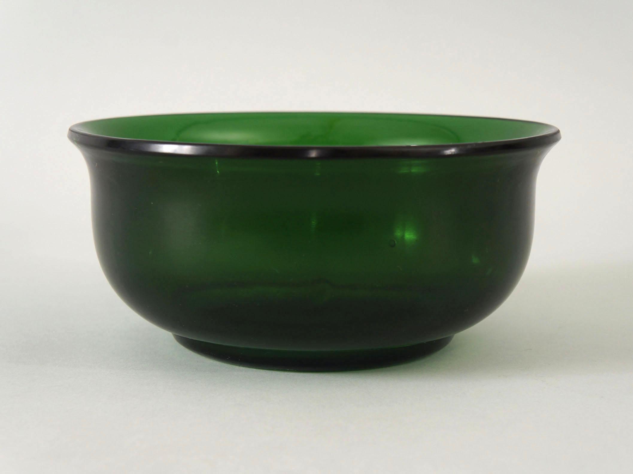 Pair of Peking Green Glass Bowls