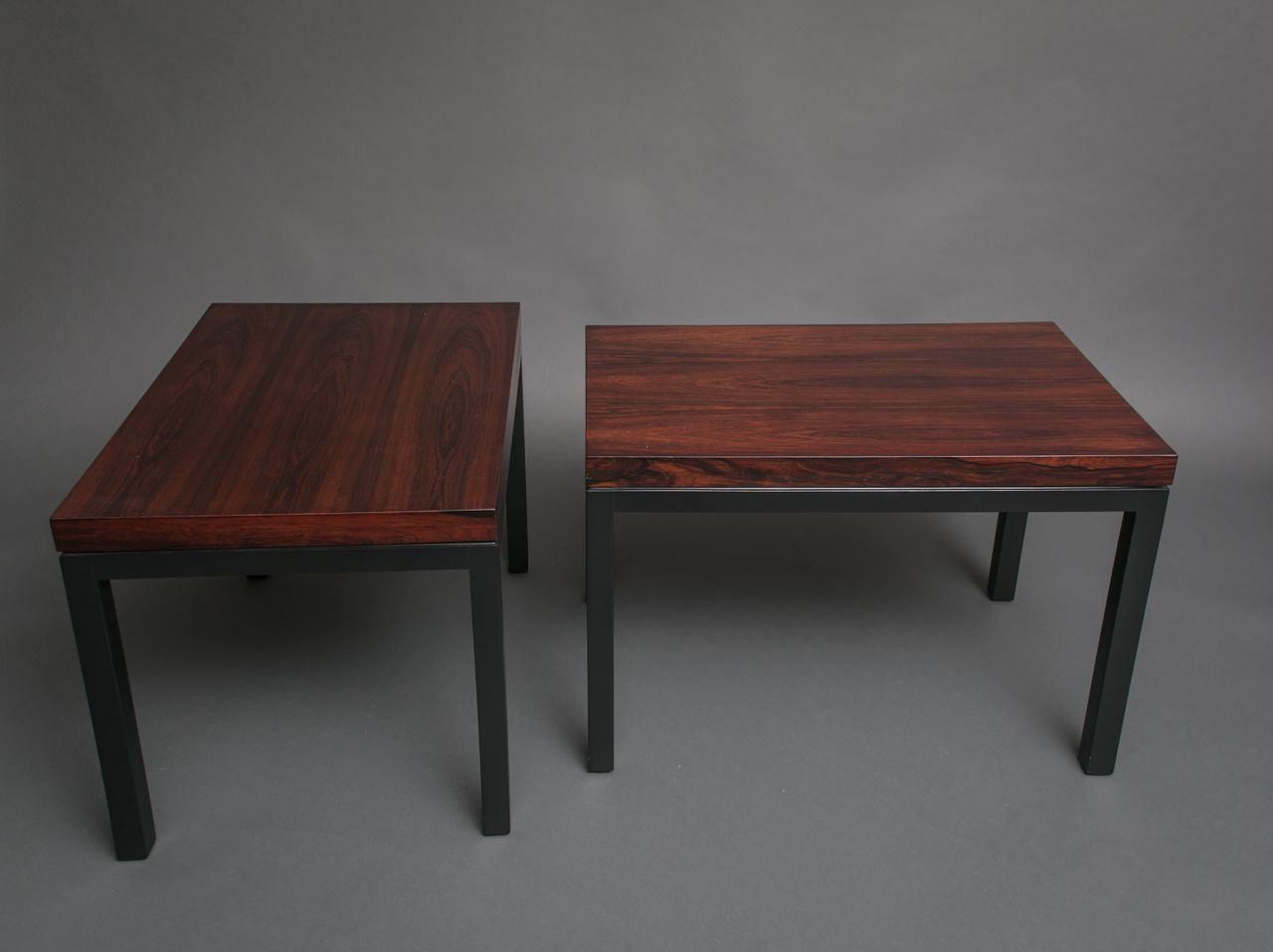 Pair of Rosewood Side Tables