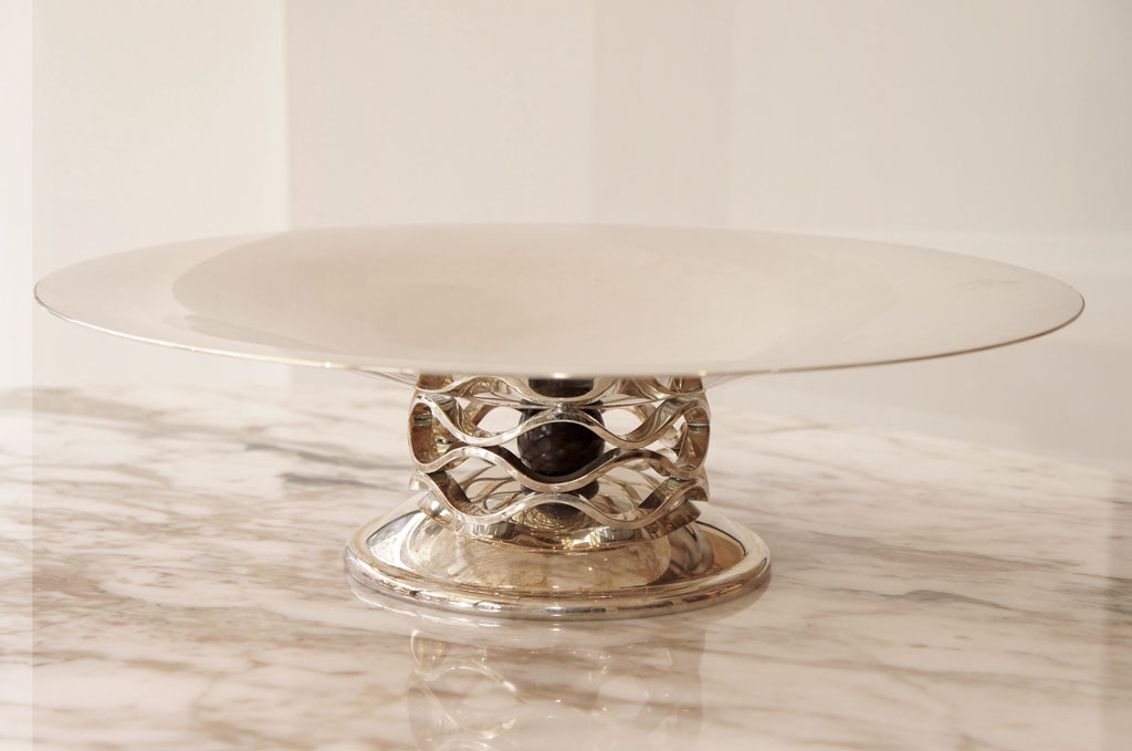 Pair of Silver Christofle Platters