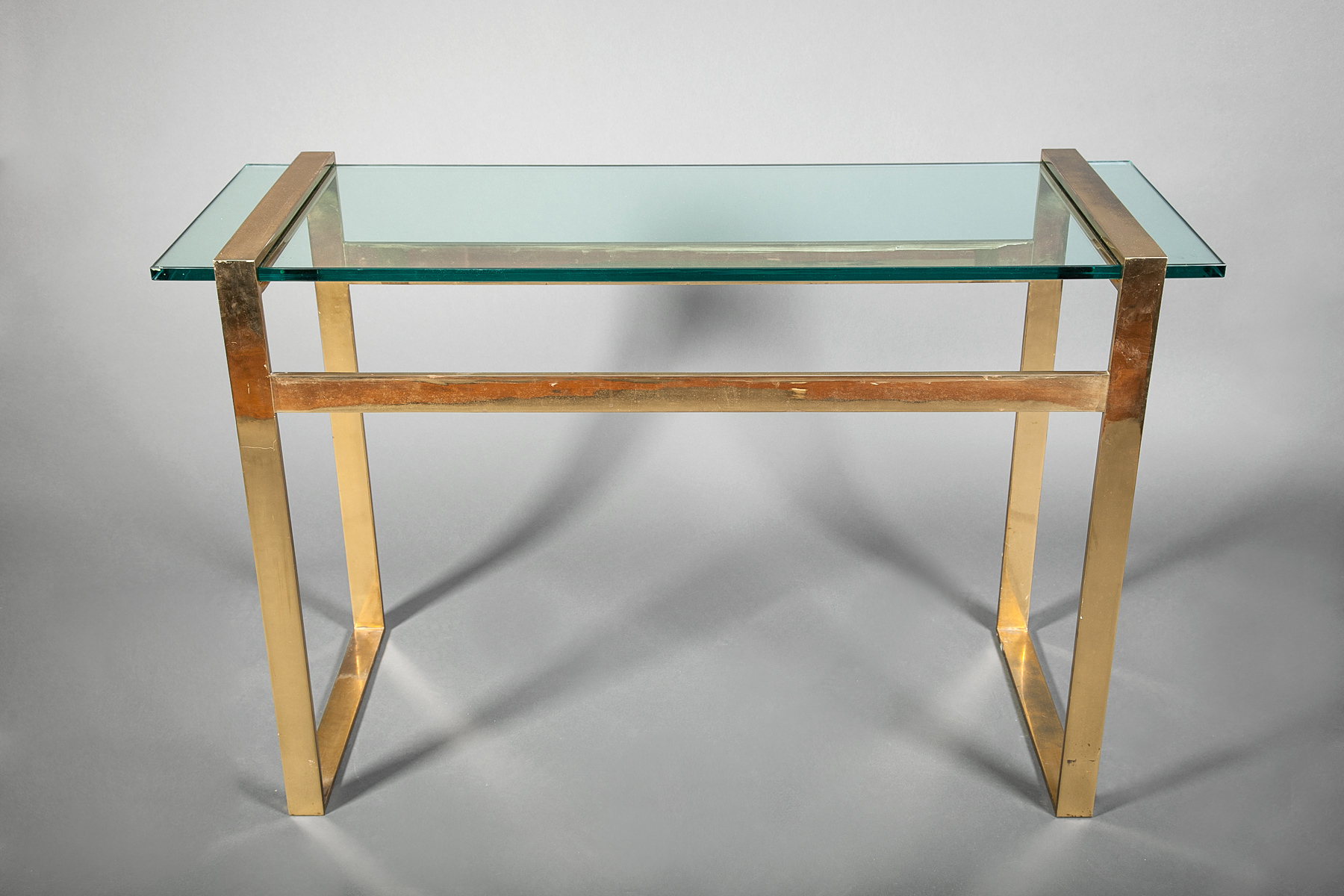 Paul M. Jones Bronze and Glass Console