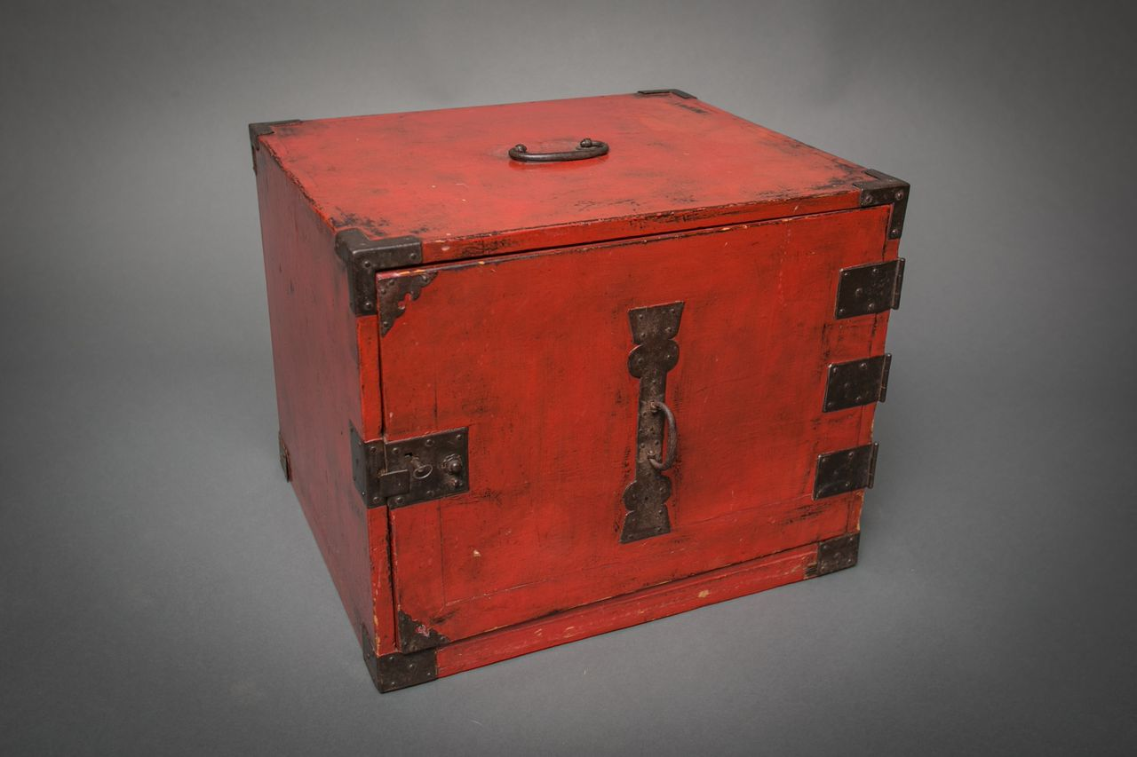 Red Lacquer Ship's Chest
