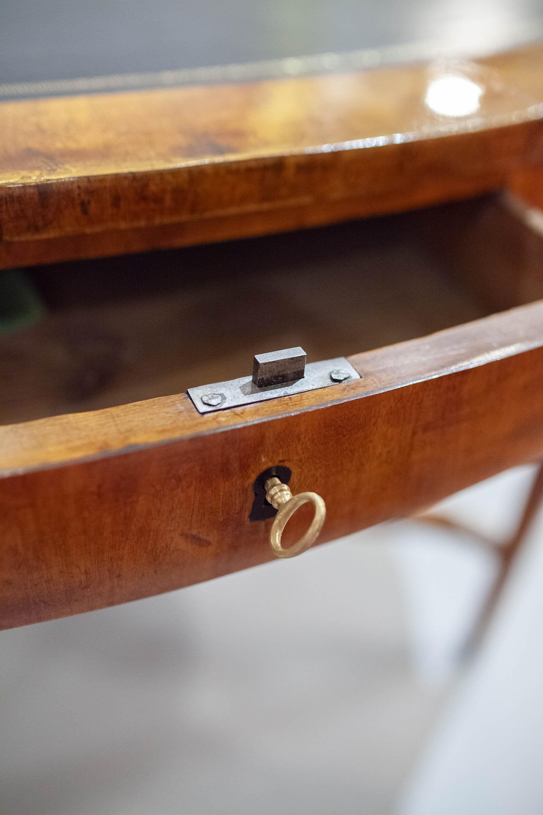 Swedish Neoclassical Birch Oval Writing Table