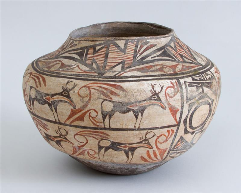 Zuni Polychrome Pottery Pot