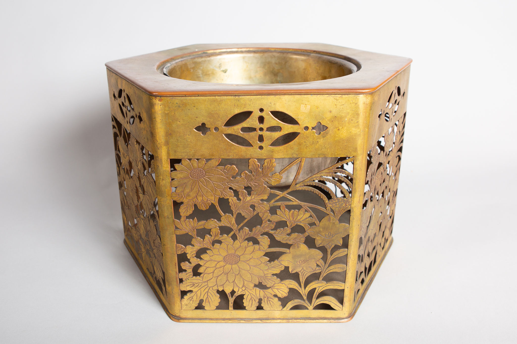18th Century Gilded Bronze Hibachi