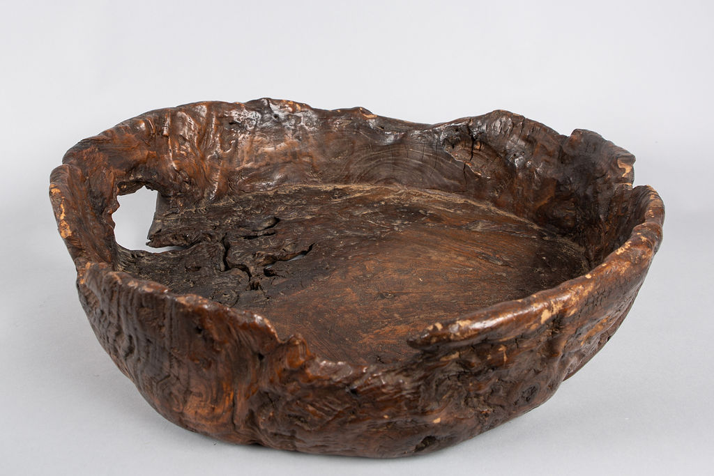 Antique Japanese Rustic Burl Bowl