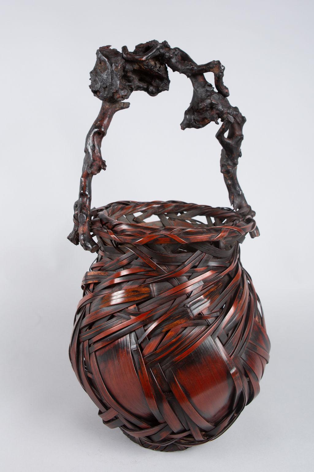 Japanese Antique Ikebana (Flower Arranging Basket)