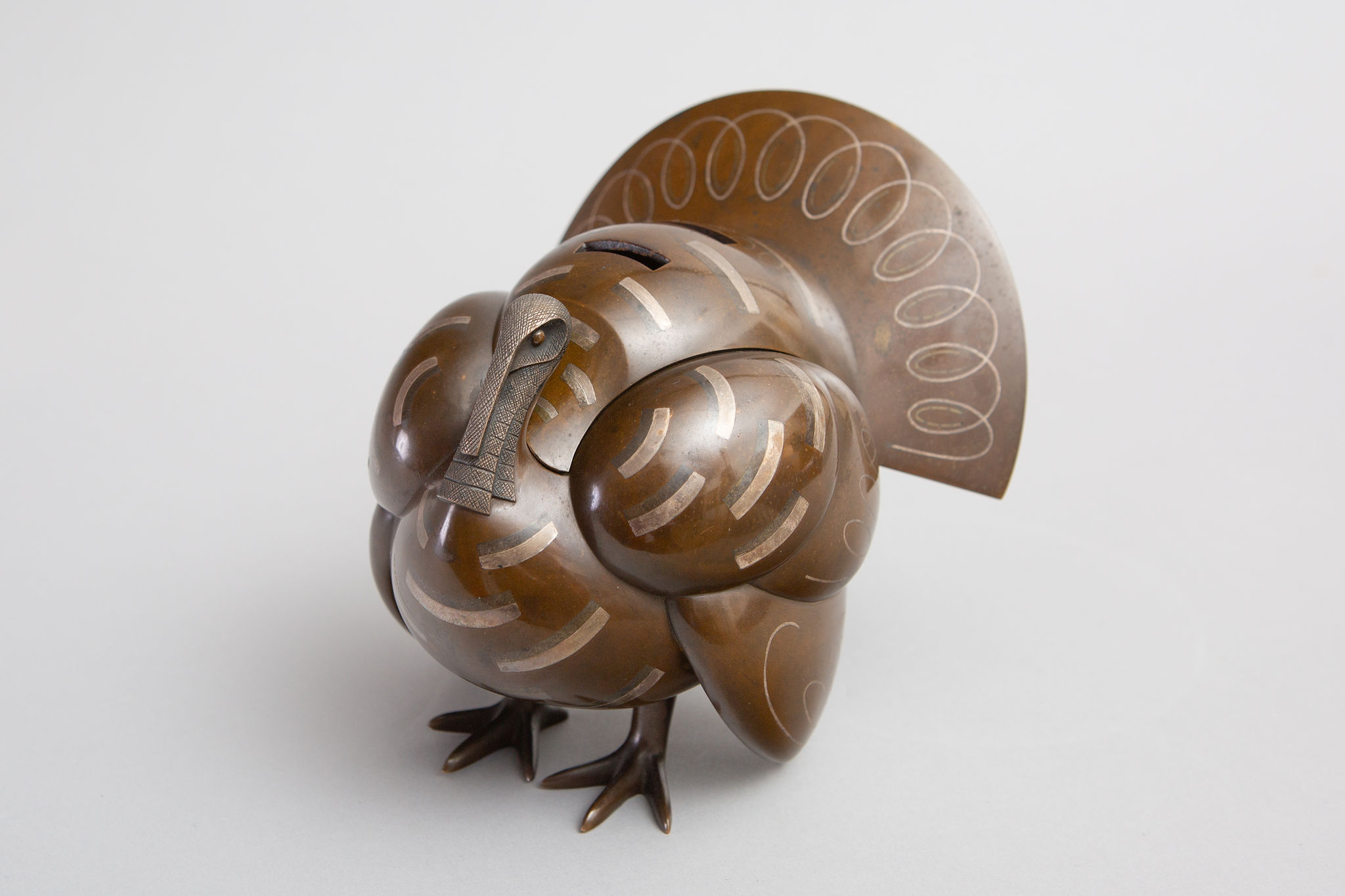 Japanese Bronze Koro (Incense Burner) in the Shape of a Turkey