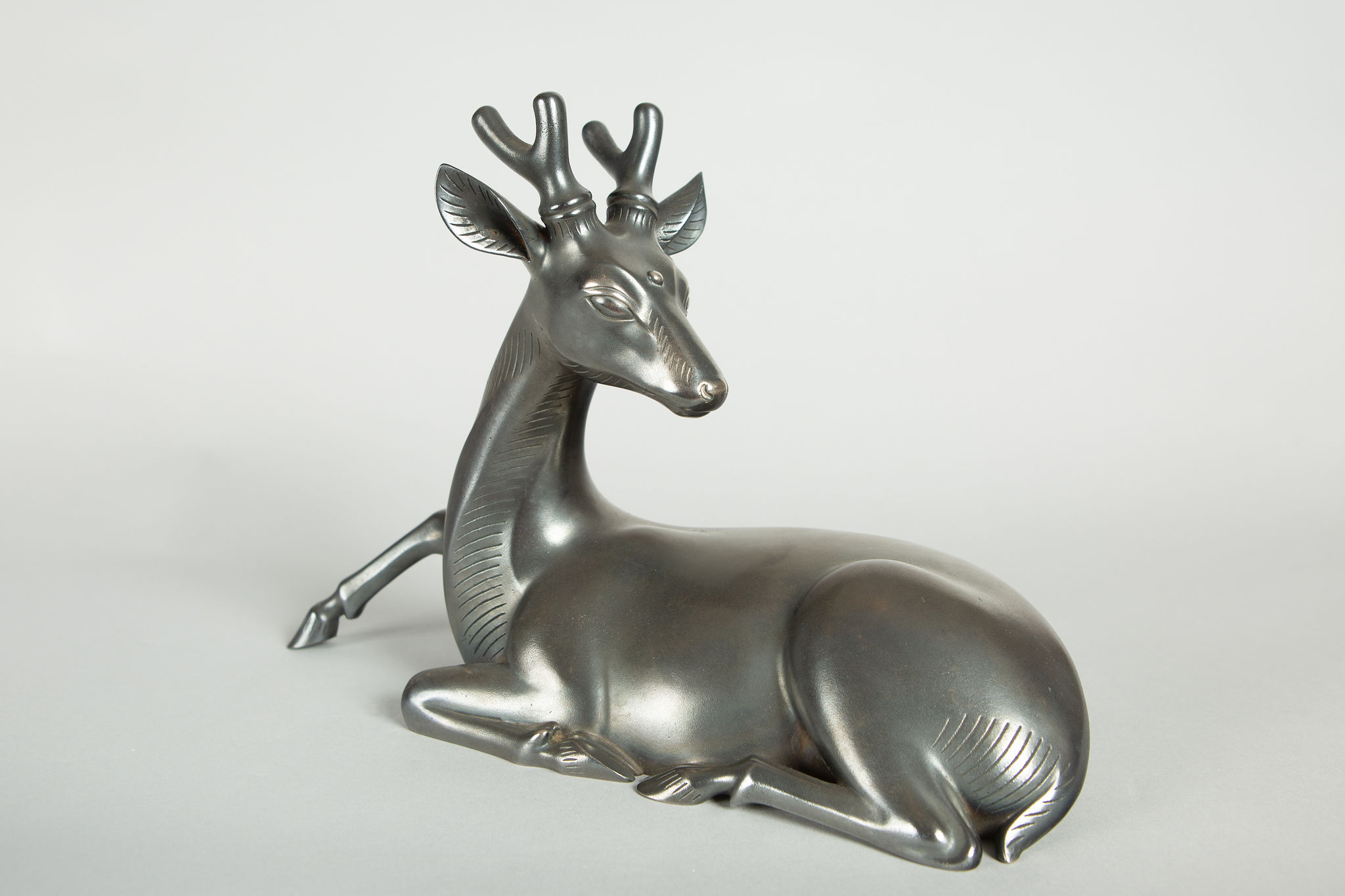 Japanese Bronze Stag With Third Eye