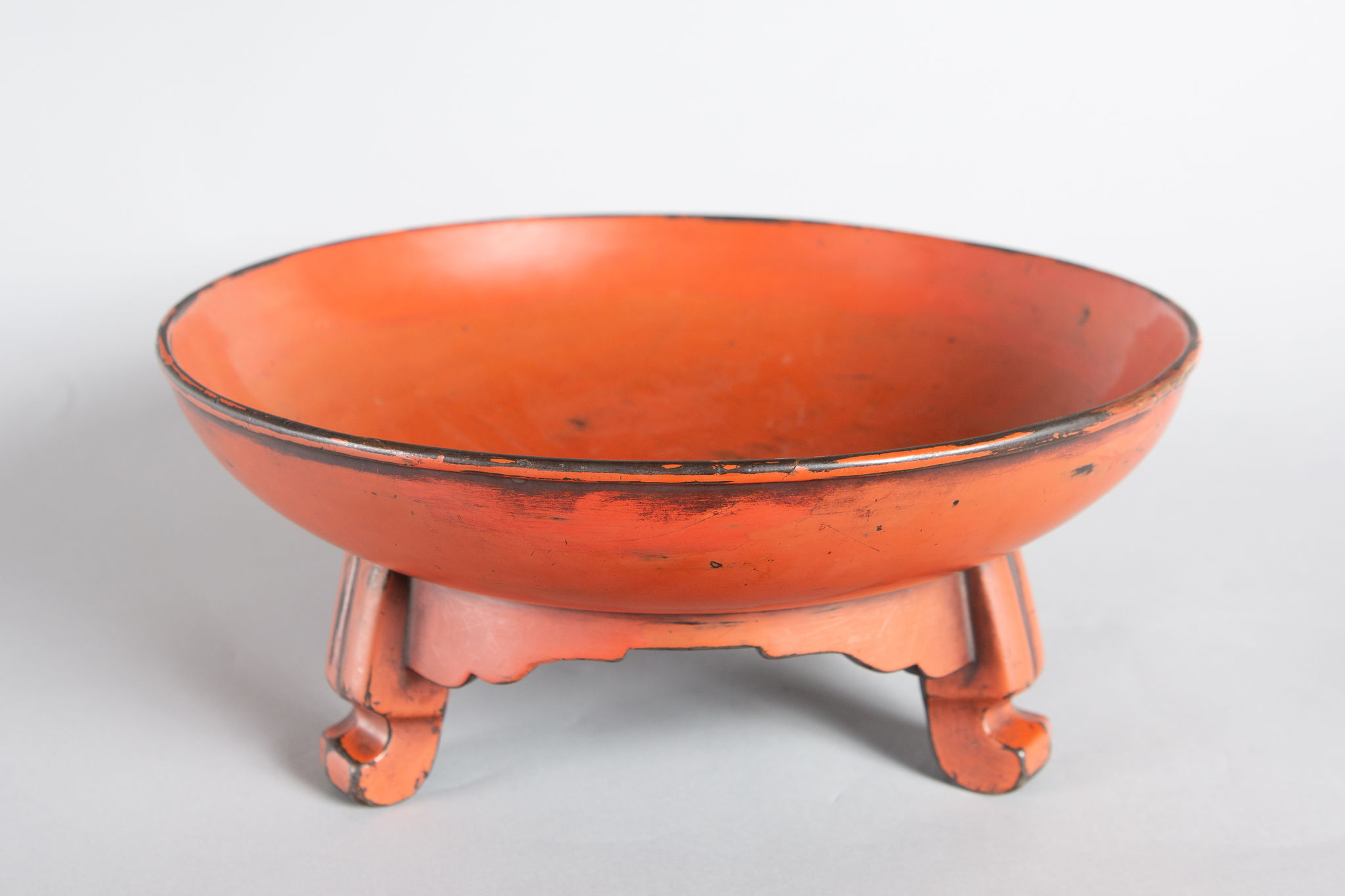 Early 17th Century Negoro Lacquer Footed Bowl