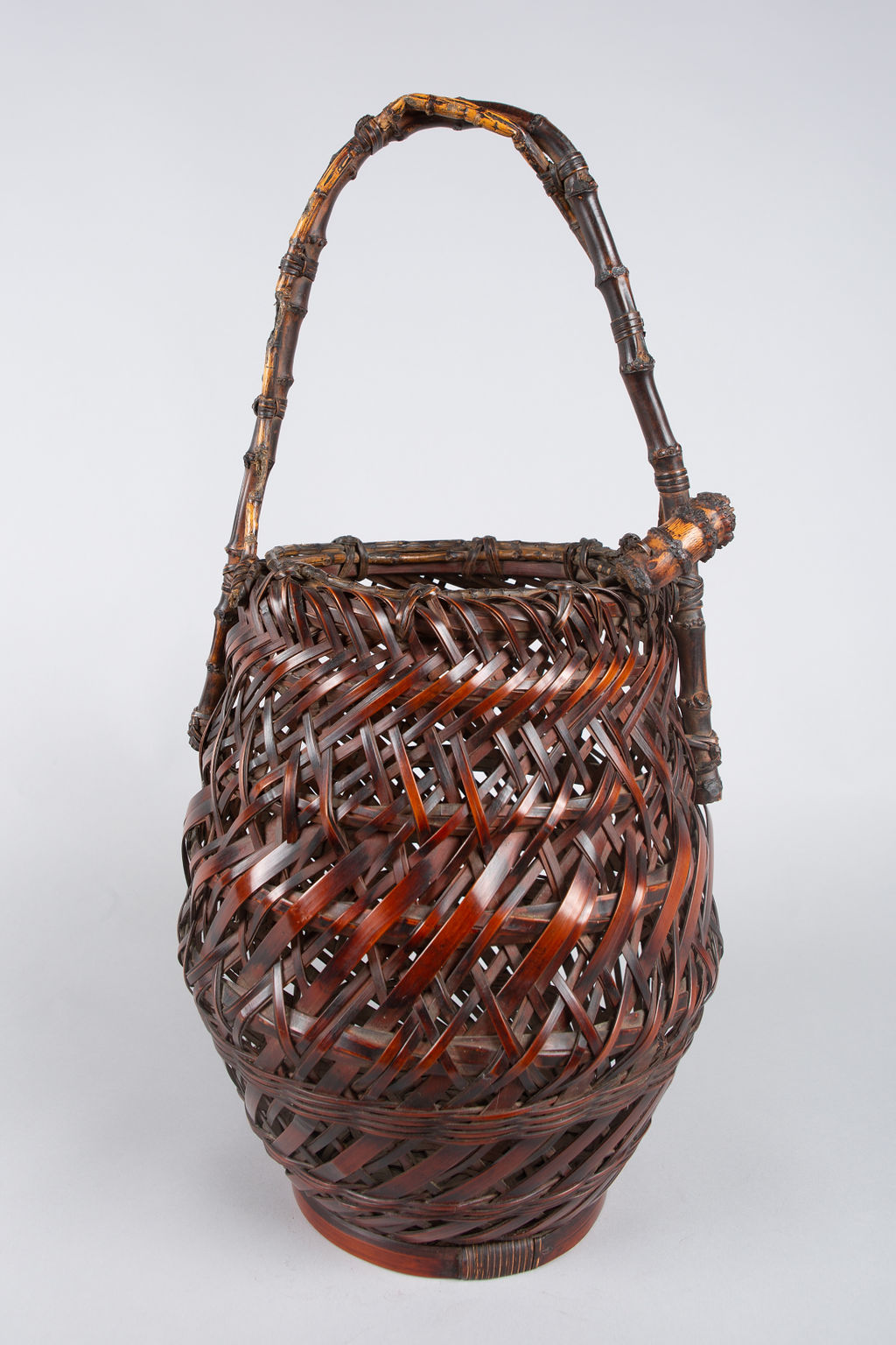 Japanese Antique Ikebana (Flower Arranging Basket)