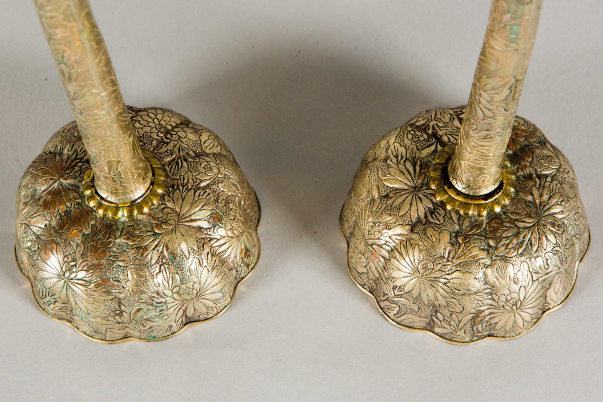 Pair of Antique Japanese Candlesticks