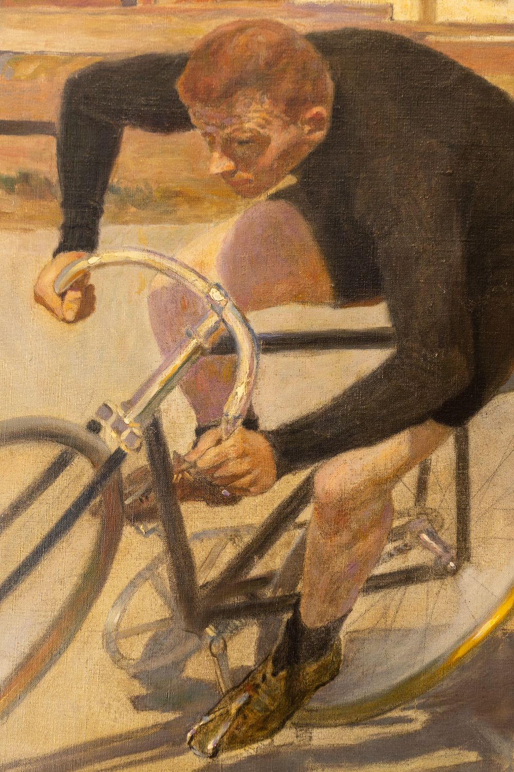 Oil Painting: Bicycle Racer