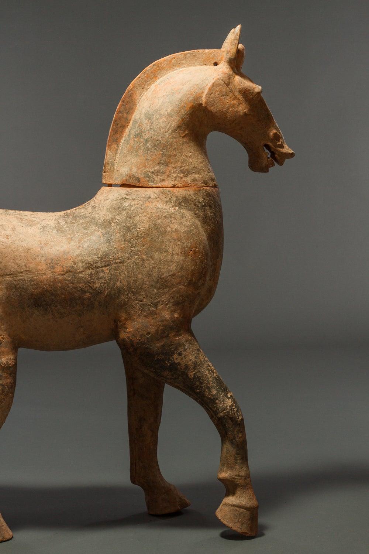 Large Chinese Pottery Horse