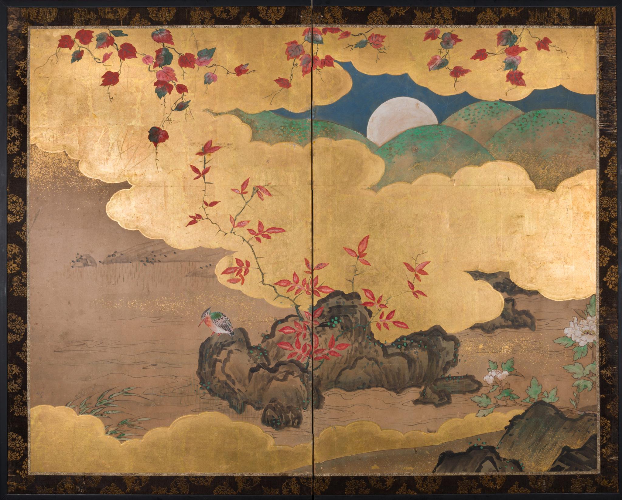 Japanese Screens, Japanese screen, Byobu, Japanese folding screens, Japanese paintings, Antique Japanese painting, Antique Japanese screens, Japanese antiques, Japanese art