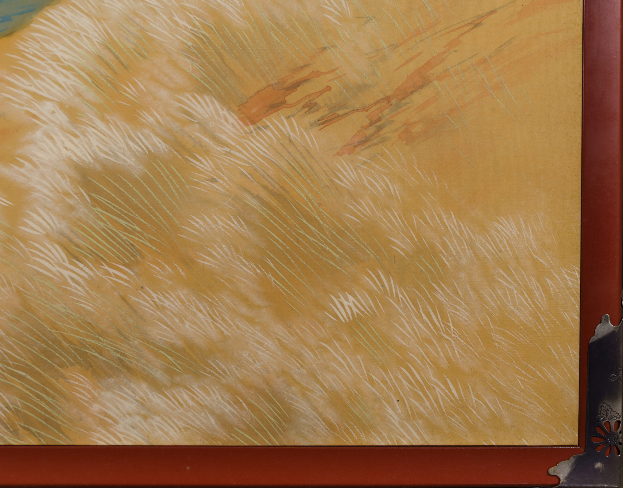 Japanese Two Panel Screen: Autumn Colored Canyon in the Mist